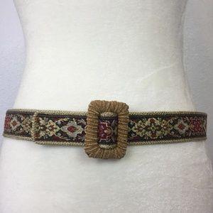 Talbots Embroidered Belt Size Medium